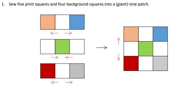 Pattern step 1